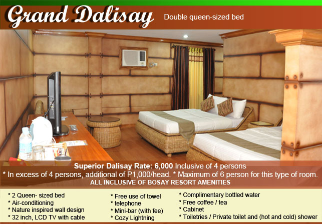 Bosay Resort Room Rates