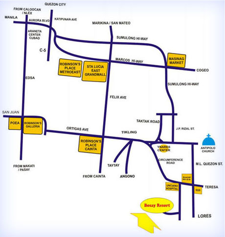 Maps & Directions | Bosay Resort Direction Map Philippines on